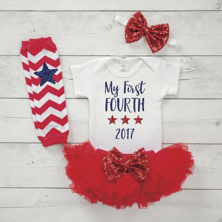 Baby Girl 4th of July 2017 Shirt, Bodysuit, Tutu, Leg Warmers and Headband Set, Newborn First 4th of July Outfit 030S #4th_of_july_newborn #4th_of_july_outfit #4th_of_july_shirt