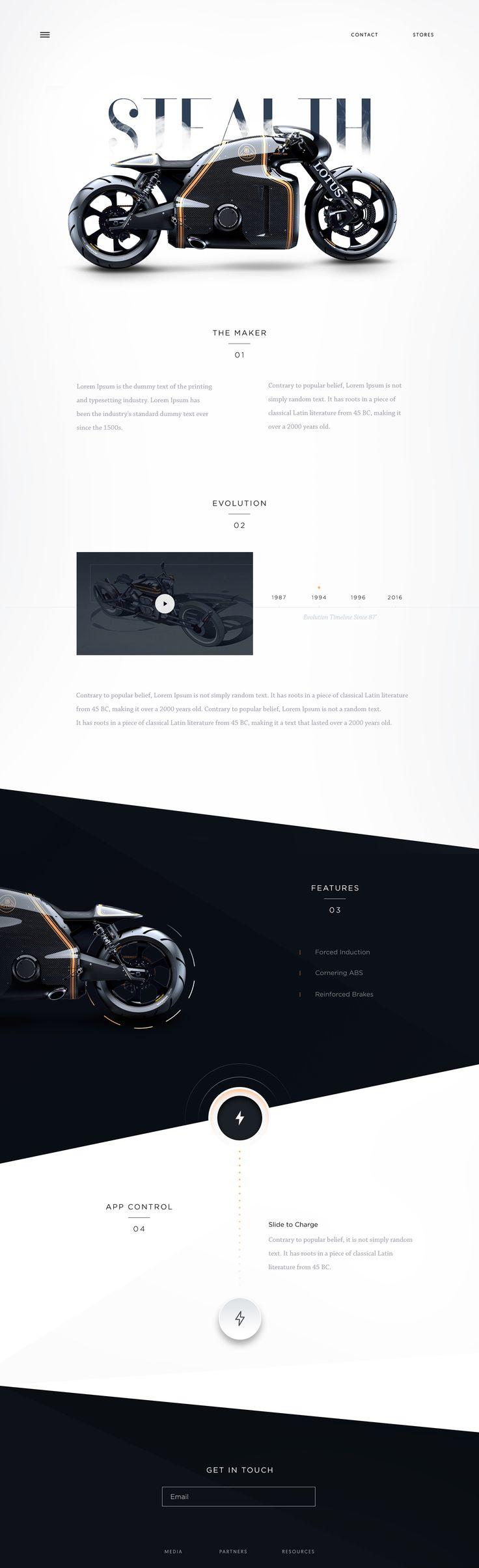 Lotus Superbike Landing Page on Behance