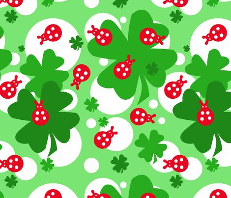 Fiaba Coccinella fabric by fiaba_fabrics on Spoonflower - custom fabric