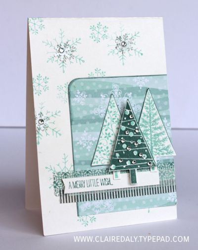 Stampin Up Festival of Trees Stamp Set. 20% off Nov 16-20. Claire Daly Christmas Cards 2015