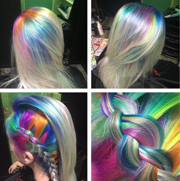 ¡Raíces arcoíris! La nueva tendencia que está llenando de color la cabeza de las…