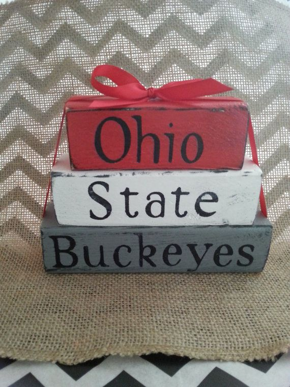 Ohio State Buckeyes Stacking Blocks by OurNanakins on Etsy