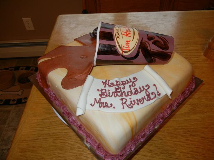 Tim Horton's cake