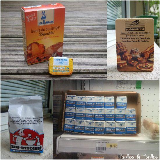Équivalence levures de boulanger fraiche et sèche