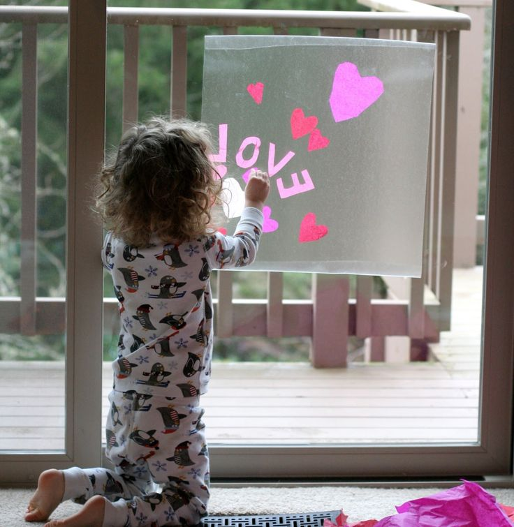 Contact paper  window art is one of our favorite rainy day activities.  While ...