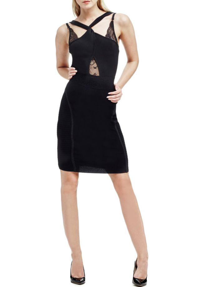 EUR239.00$  Buy now - http://viabm.justgood.pw/vig/item.php?t=8t4r2a819458 - MARCIANO CROSSOVER NECK DRESS EUR239.00$