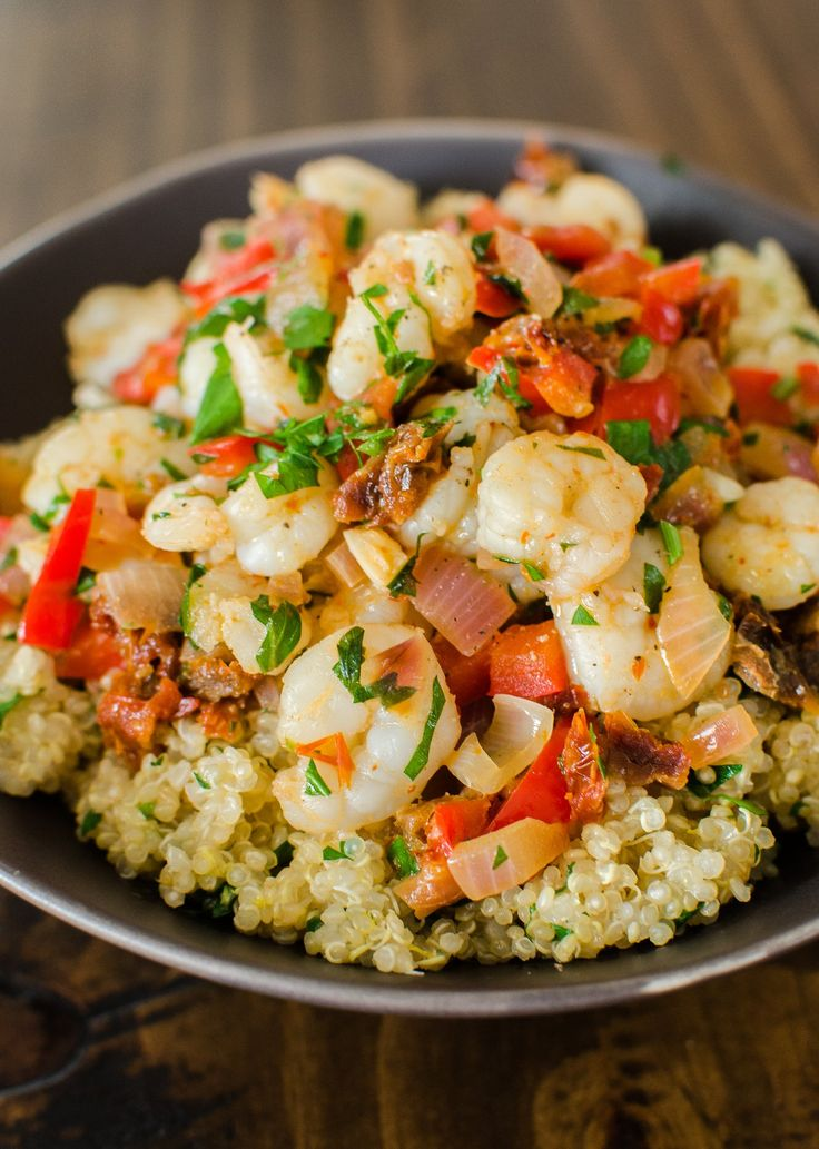 Saucy Sauteed Shrimp Over Lemon Quinoa – Quick Dinner Recipe: Saucy Sautéed