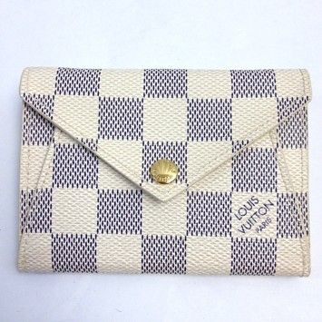 Louis Vuitton Louis Vuitton #6312 Origami Compact Wallet Damier azur Wallet Pocket Bill Holder Card Case Coin Purse #louisvuitton #lv #wallet #damier #holder #case #coin #purse