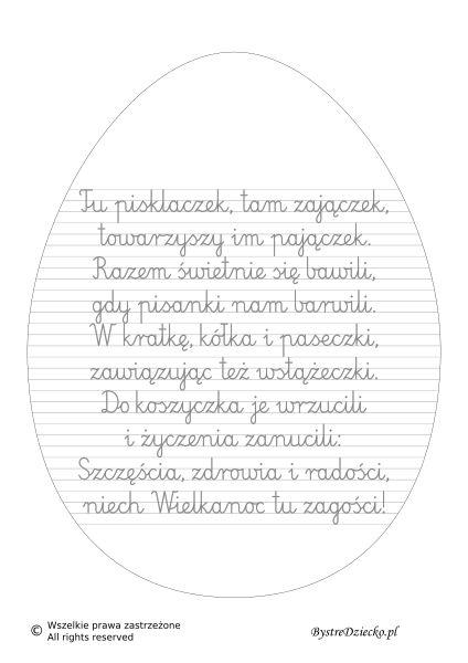 Laurka na Wielkanoc - nauka pisania dla dzieci