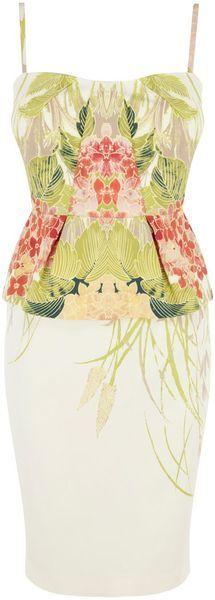 KAREN MILLEN ENGLAND Garden Party Floral Pencil Dress - Lyst