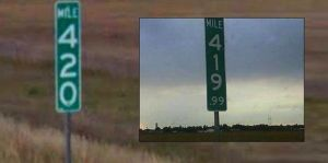 Colorado Changes Mile Marker 420 Because Someone Kept Stealing It