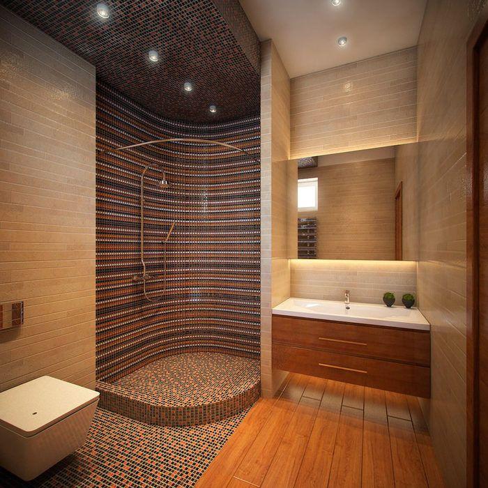 Дизайн ванной с душ кабиной