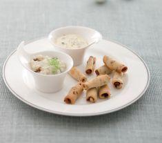 Salatini alle lenticchie con fonduta di gorgonzola e crema di finocchi