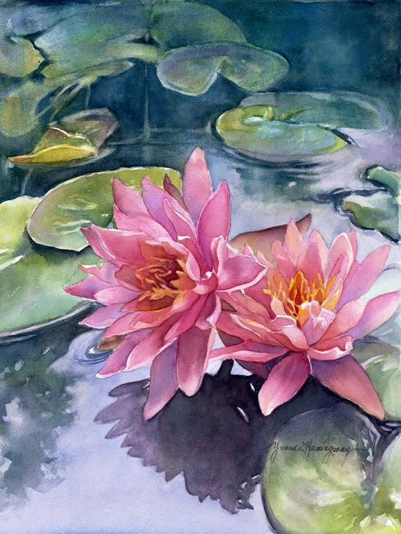 Fine Art Giclee Reproduction of my original watercolor painting titled Lotus Ref… – Fine craft ideas