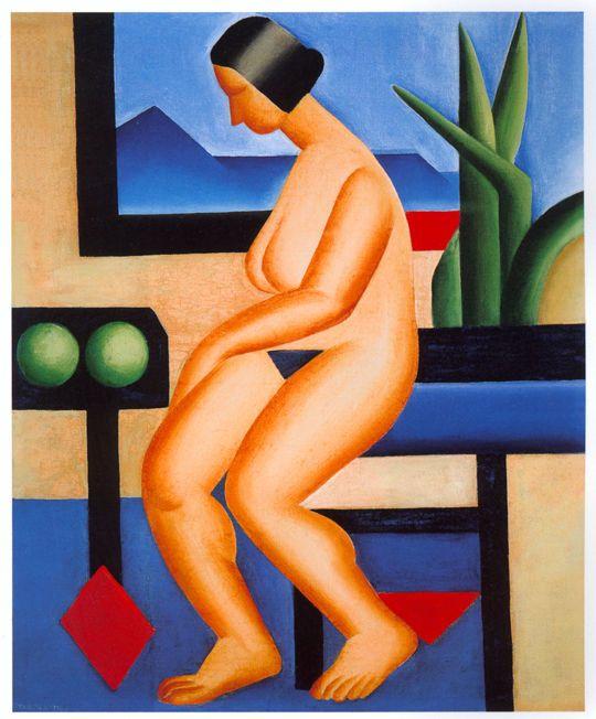 Naked(1923) - Oil on Canvas - Tarsila do Amaral.