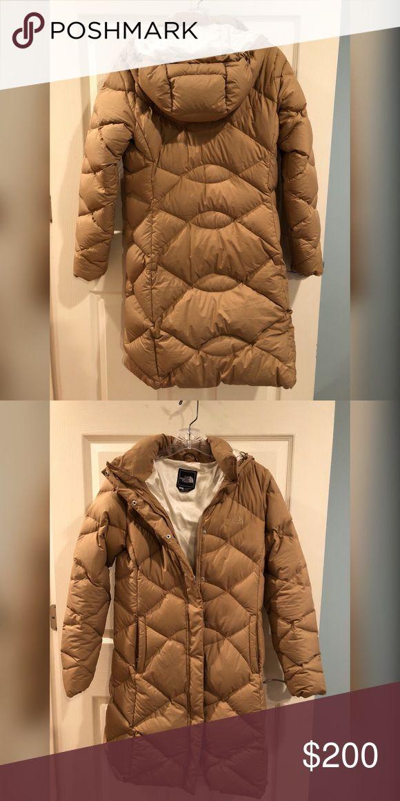 North Face Long Coat Tan North Face long extra warm jacket. Like new; worn one season.  Kept me warm in freezing Boston winter winds at NEU. North Face Jackets & Coats Puffers