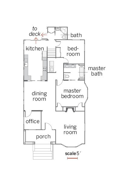 Floor Plan: Ian Worpole | thisoldhouse.com | from Cleaning Up a Classic Craftsman