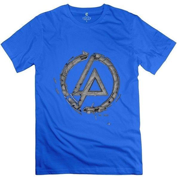 Fashion Linkin Park Retro Logo Men's T-shirt Black ($12) ❤ liked on Polyvore featuring men's fashion, men's clothing, men's shirts, men's t-shirts, mens retro shirts and mens t shirts