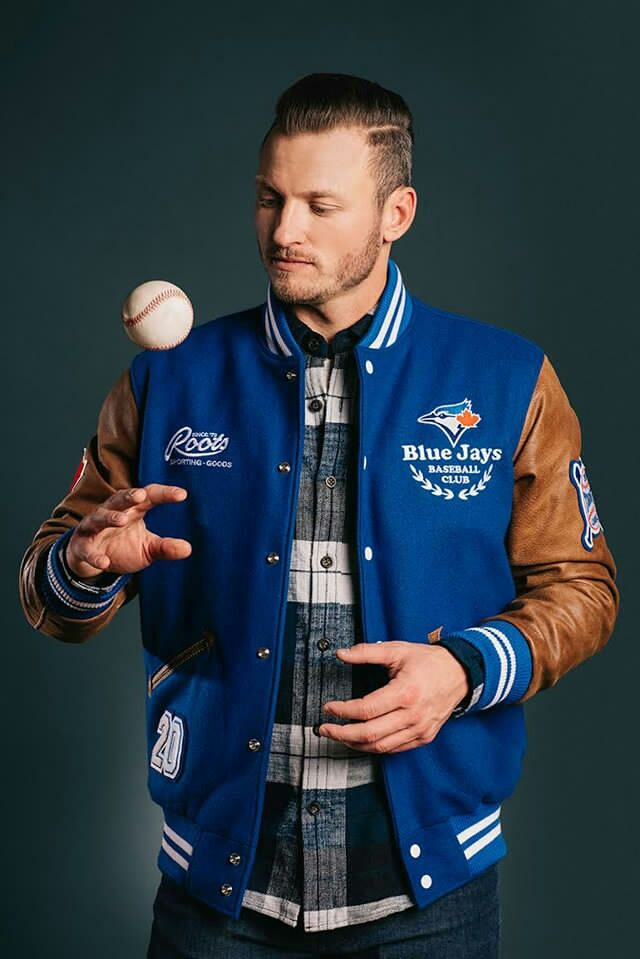 .#RootsCanada x Josh Donaldson Release #BlueJays Award Jacket! More here: