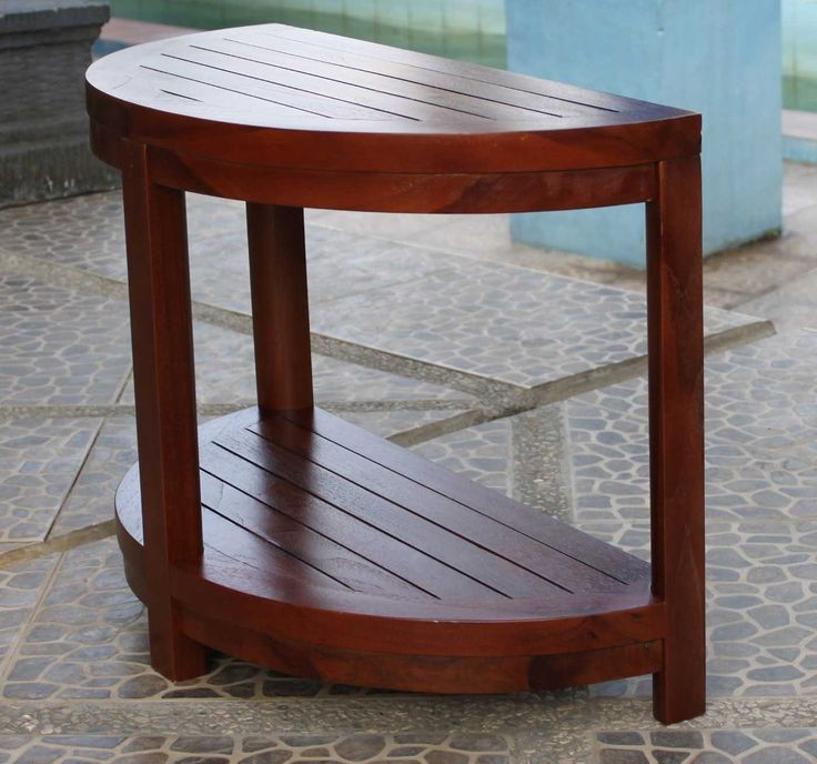 classic shower benches with teak wood