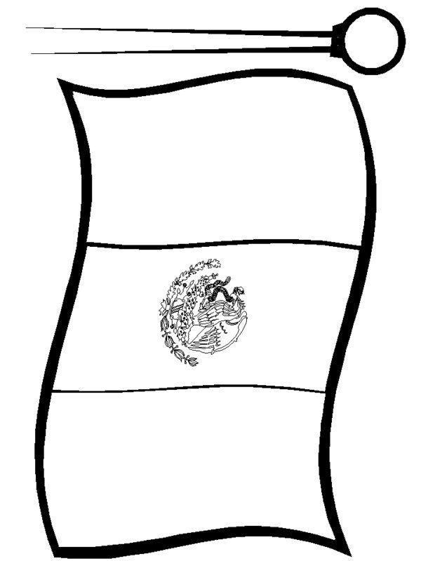 Mexican Flag Print Out free colorable | Mexican Flag Coloring Pages Picture 2 – Printable Mexico Flag ...