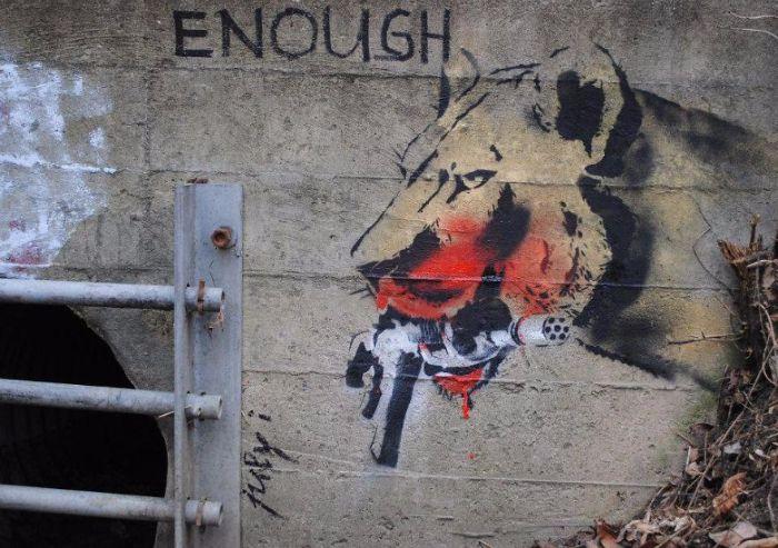 """ ASSEZ ! "" / Street art. / By Crazy Tomato."