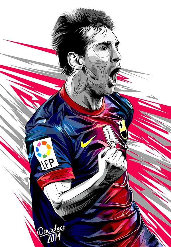 Messi on Behance