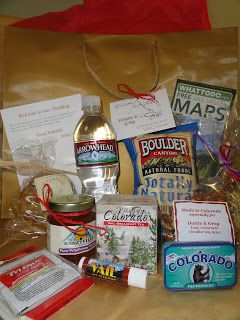 mountains and meadows: Wedding Welcome Bags