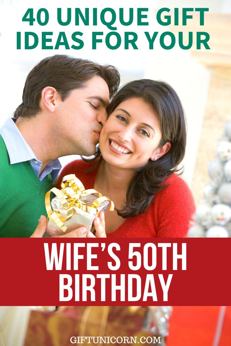 40 unique gift ideas for your wifes 50th birthday