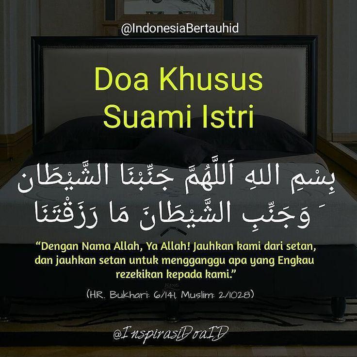 . Doa Khusus Suami Istri --- بسم الله اللهم جنبنا الشيطان وجنب الشيطان ما رزقتنا --- Dengan Nama Allah Ya Allah! Jauhkan kami dari setan dan jauhkan setan untuk mengganggu apa yang Engkau rezekikan kepada kami --- HR. Bukhari: 6/141 Muslim: 2/1028 --- . . Follow @InspirasiDoaID Follow @InspirasiDoaID Follow @InspirasiDoaID #IndonesiaBertauhid #IslamRahmatanLilAlamin #InspirasiDoaIB #Doa #Dailydoa #DoaSeharihari #Islam http://ift.tt/2f12zSN