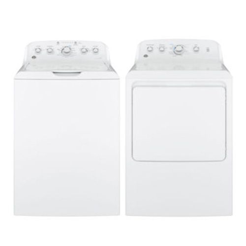GE Top Load Gas Washer and Front Load Dryer Package