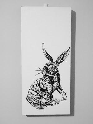Rabbit, acrylic on canvas