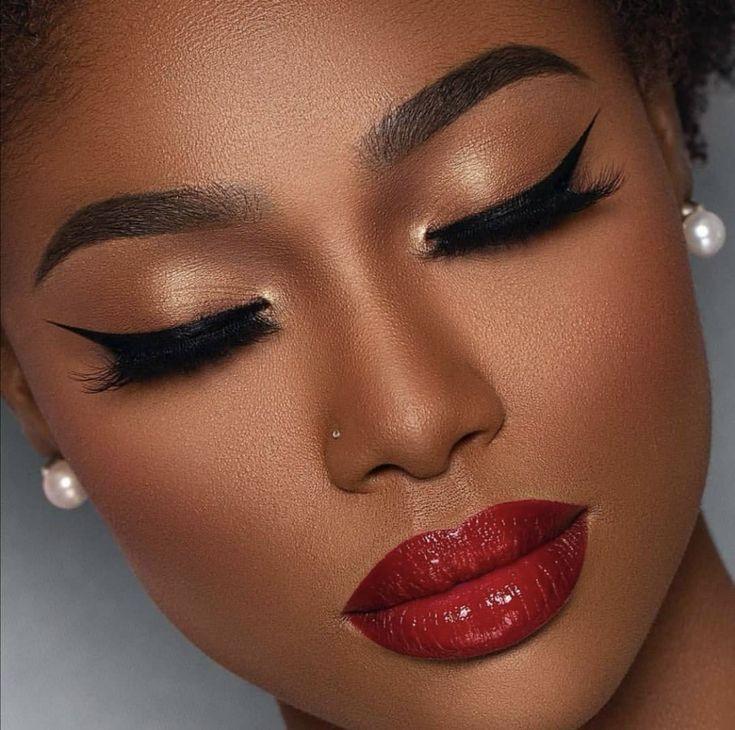 Makeup For Black Women In 2020 Makeup For Black Women Dark Skin Makeup Womens Makeup