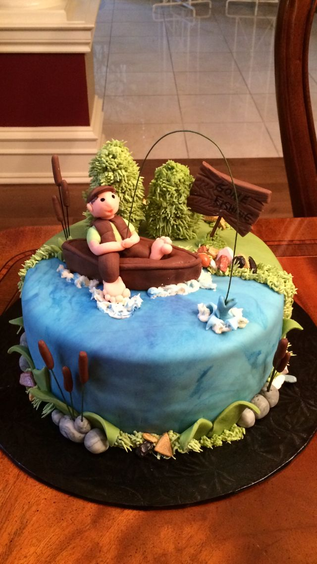 Fishing themed cake!