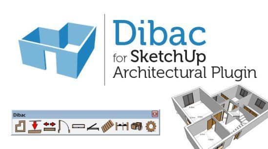 Plugin Dibac para Sketchup Pro 2017| 32 & 64 Bits | Via Mega