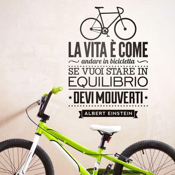 Adesivi Murali: La vita è come andare in bicicleta 0