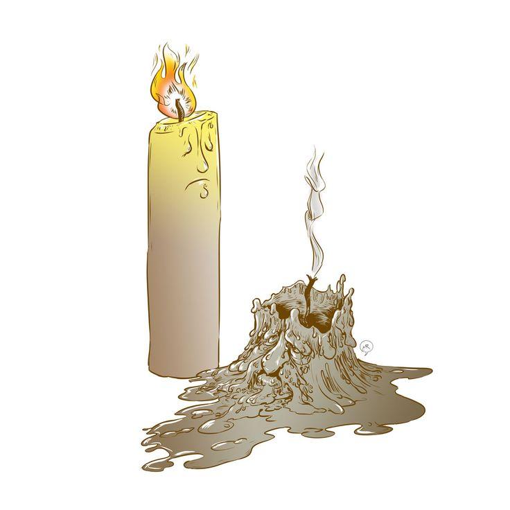 Day 74: Born to burn  #mittroshin #illustration #candles #twocandles #characterdesign