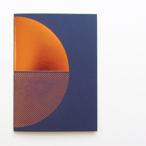 Copper Card Navy | Lovely Pigeon