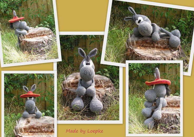 Crazy donkey (pattern by Sandra Hawlik): Donkey Pattern, Crazy Donkey, Crochet Amigurumi, Crocheting Amigurumi, Gehaakte Diertjes, Amigurumi Horses, Crochet Afghan Blankets Throws