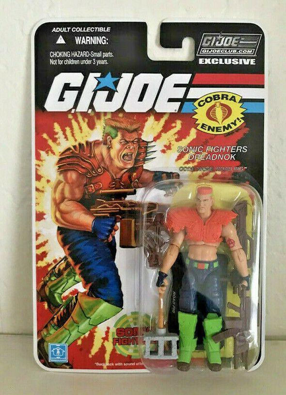 GI JOE ROAD PIG DREADNOK SONIC FIGHTERS COLLECTOR/'S CLUB FSS 8.0