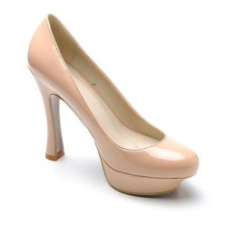 Elegant and Sophisticated Solid Color Platform Design Patent Leather Women's Pumps