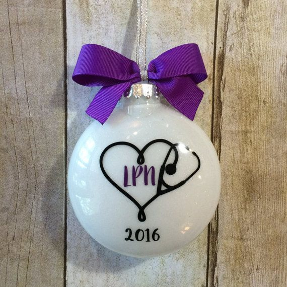 Nurse Ornament LPN Gift Nursing Graduation by PearTreePersonal