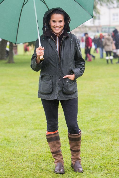 'We bumped into Lauren at the Great Yorkshire Show wearing her Barbour wax jacket - perfect for every occasion!'