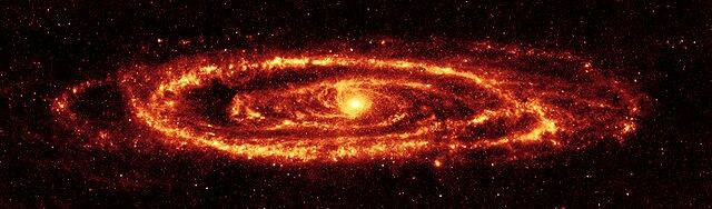 Galaxia andromeda en imfrarrojo >> Andromeda galaxy in infrared