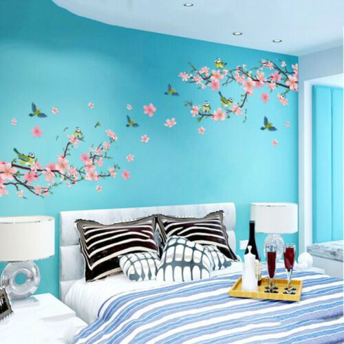 details about japanese sakura pink cherry blossom tree on wall stickers for home id=18277