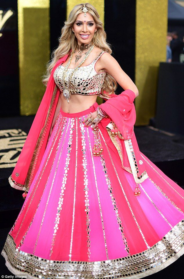 Shocking pink:Teem Mom OG star Farrah Abraham wore a Bollywood inspired outfit to the MTV Movie & TV Awards on Sunday night