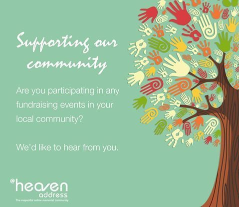 Tell us which community fundraising events or charities you are supporting - We'd love to hear from you!
