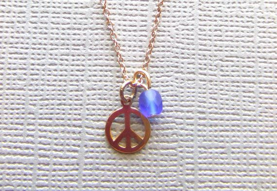 Delicate Peace and Tranquility Necklace by LoveHappinessJewels, $23.00