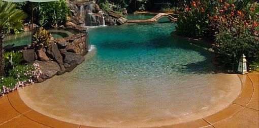 Images of beach entrance pools pebble sheen beach entry for Pool design polen