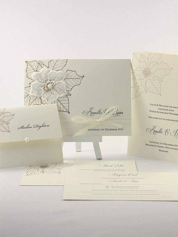 Annette Collection - Elegant Invitations - Themed Invitations   Red Wax Invitations